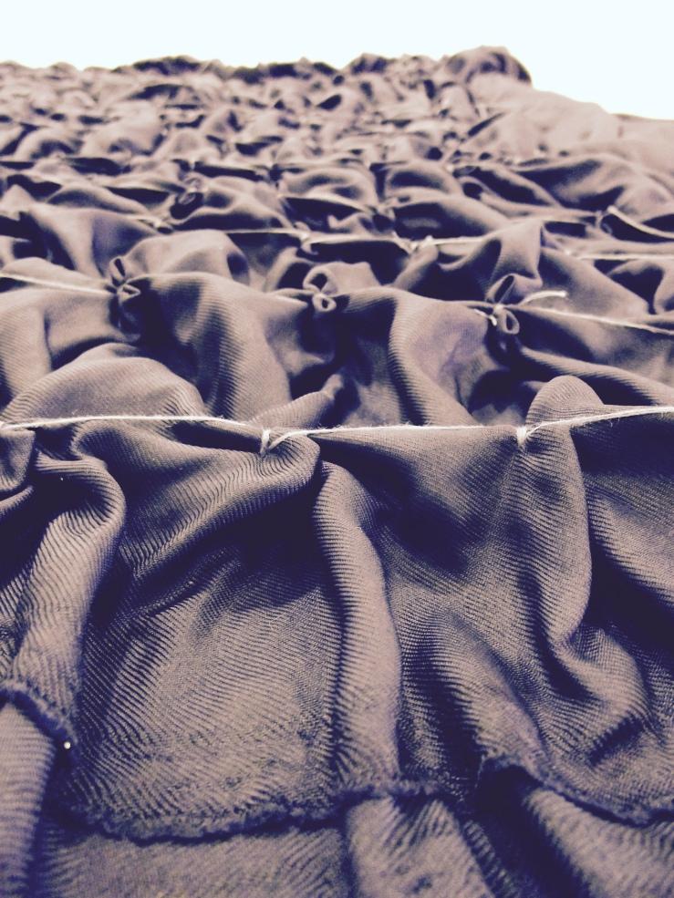 Twill de soie shibori