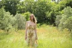 robe en twill de soie teinture végétale